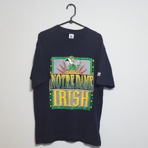 90s Notre Dame Single-stitched Tee Large Irish